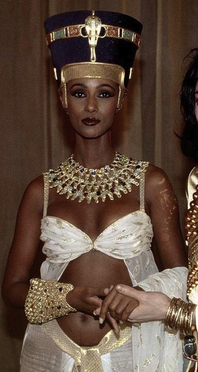 Iman as Cleopatra