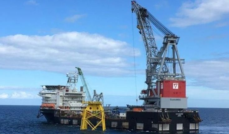 Jacket Installation Resumes at Beatrice Offshore Wind Farm