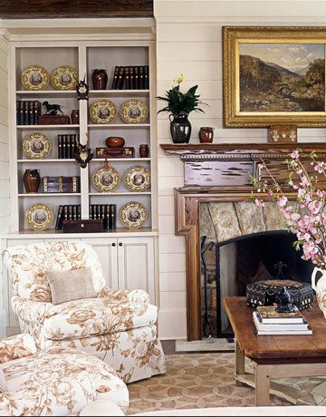 A Beautiful Pecky Cypress Mantelpiece  http://www.housebeautiful.com/decorating/soft-pretty-howard?src=nl=hbu=nl_hbn_dot_non_100412_mountain-home=ist#slide-1
