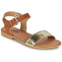 Zapatos Niña Sandalias Citrouille et Compagnie GANAO Plata / Camel