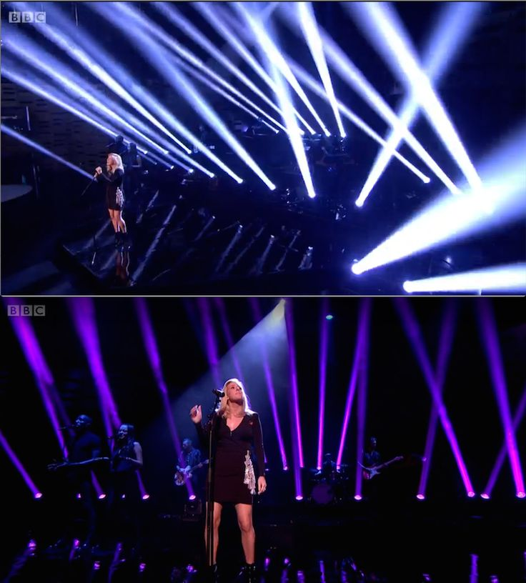 Ellie Goulding - Live on Graham Norton. Floor Fixture Beams