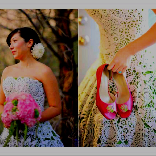 Crochet dress....LOVE IT!: Wedding Dressses, Crochet Dresses, Wedding Ideas, Weddings, Doily, Bride, Crochet Wedding Dresses