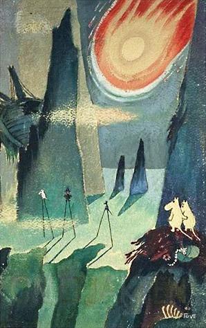 Tove Jansson's illustrations of Moomins on stilts.