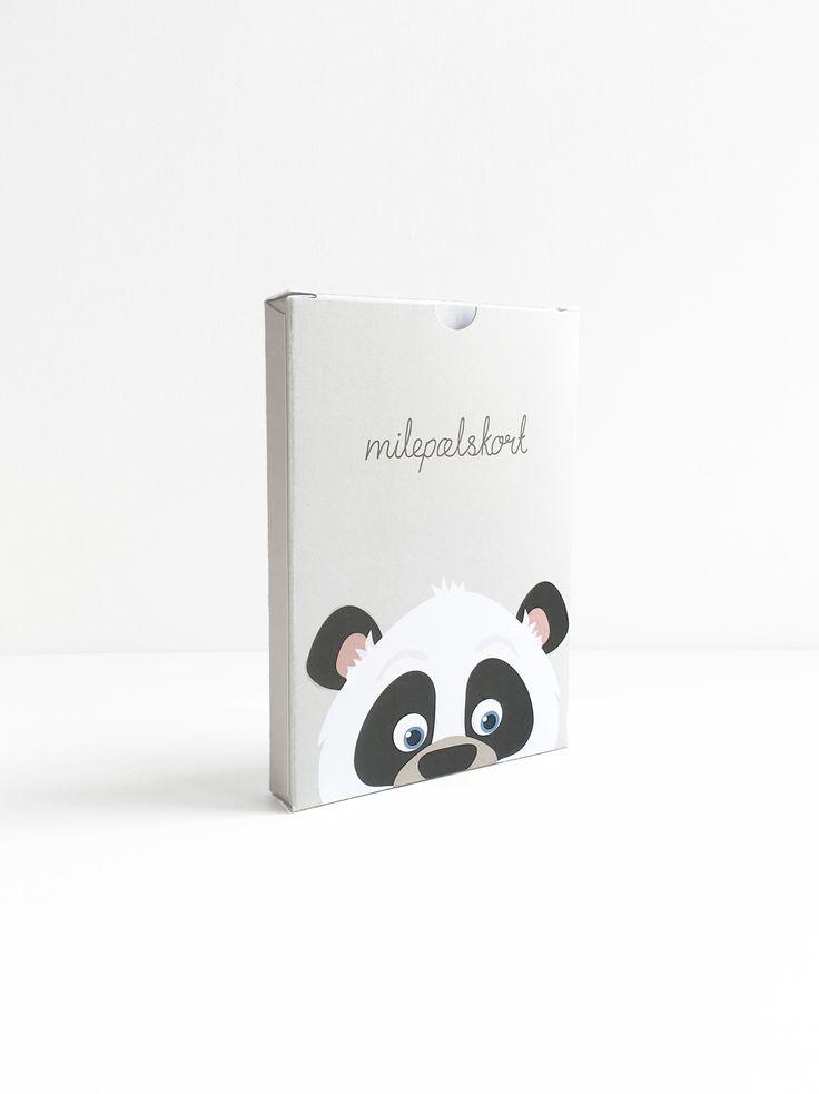 New packaging for Alfabetdyr's milestone cards.