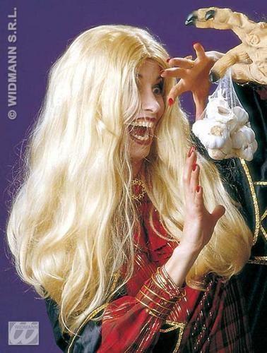 lang Blond Perücke Pop Star Celebrity Hexe Halloween Verkleidung