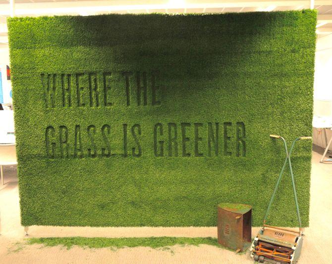Set Design: Grass Wall - Sarah Fox