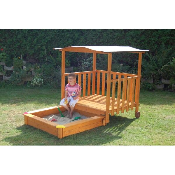 52 best GrandKids Garden images on Pinterest Kid games, Backyard - Maisonnette En Bois Avec Bac A Sable
