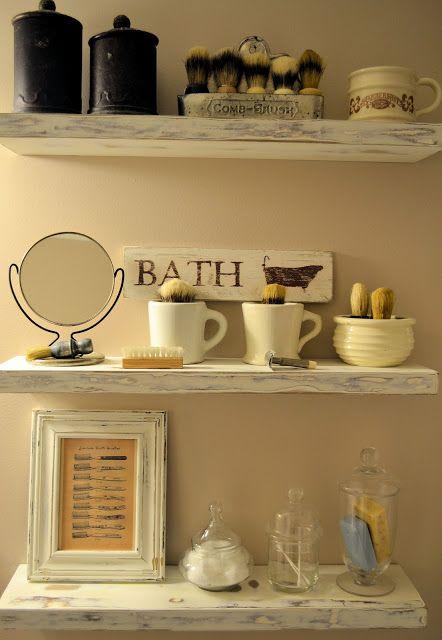 Shaving brush collection...decor idea for my bathroom.