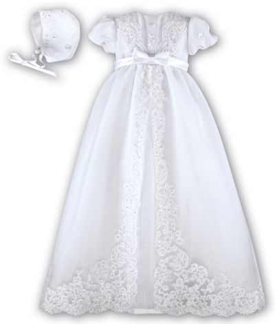 Free Christening Gown Pattern | Picture of Baby Girls White Christening Gown By Sarah Louise Free ...