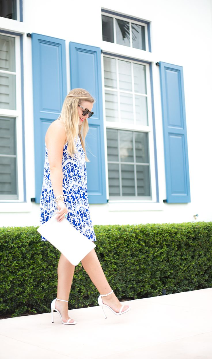 Blue + White Print Dress – Living In Color Print