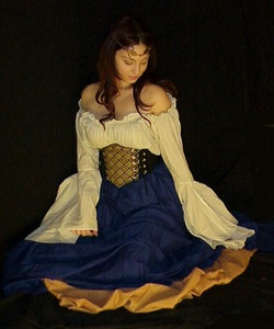 Q I Renaissance Medieval Gypsy Pirate Wench Costume Mythic Chemise Gown | eBay