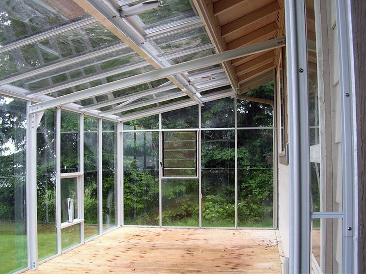 Traditional Glass Lean-to Greenhouse