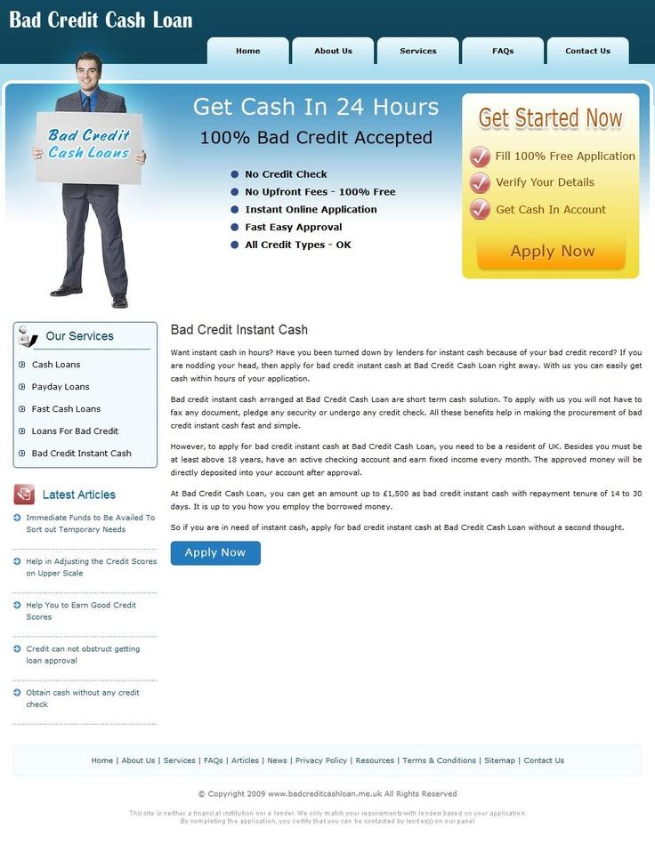 Bad credit cash loan arrange reliable loans option to meet