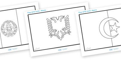 Flags of the World Colouring Sheets - flag, country, countries, world, Olympics, Olympic Games, sports, Olympic, London, 2012,  colour, colo...