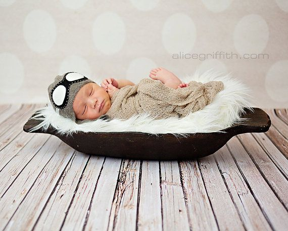Baby Pilot hat  Newborn aviator hat  Aviator hat by TreMelarance, €21.00