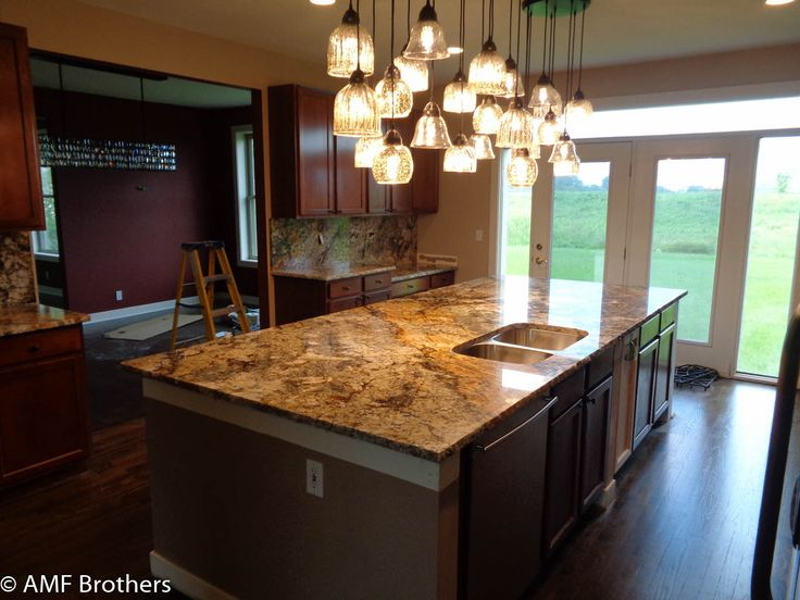 Barrington IL, Chiseled Edge, Mascarello Granite Countertops Projects  Installed August 2016 By AMF Brothers