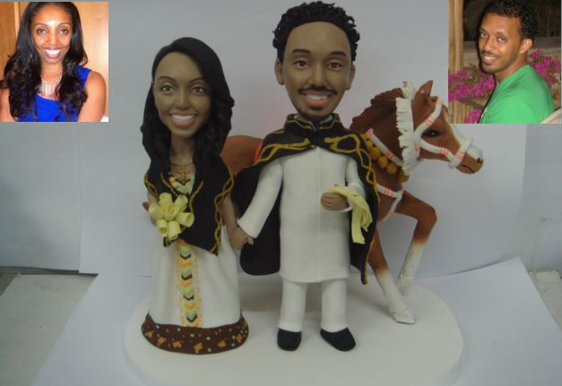 Interracial weddings and their own theme. #wedding #savethedate #couple #engaged #caketopper #customized #personalized
