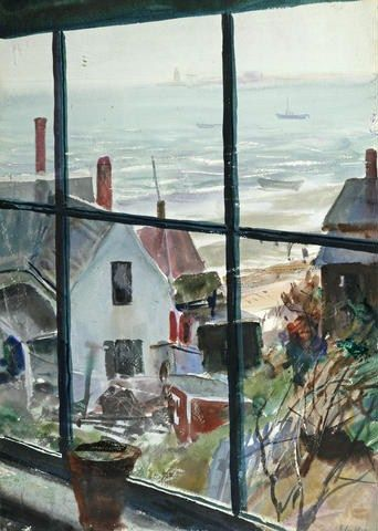 JOHN WHORF (1903-1959) View Out the Window into the Harbor