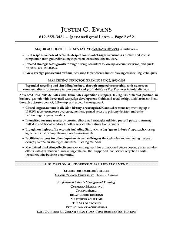Sales Sample Resume - Certified professional resume writer - Former Denver recruiter.
