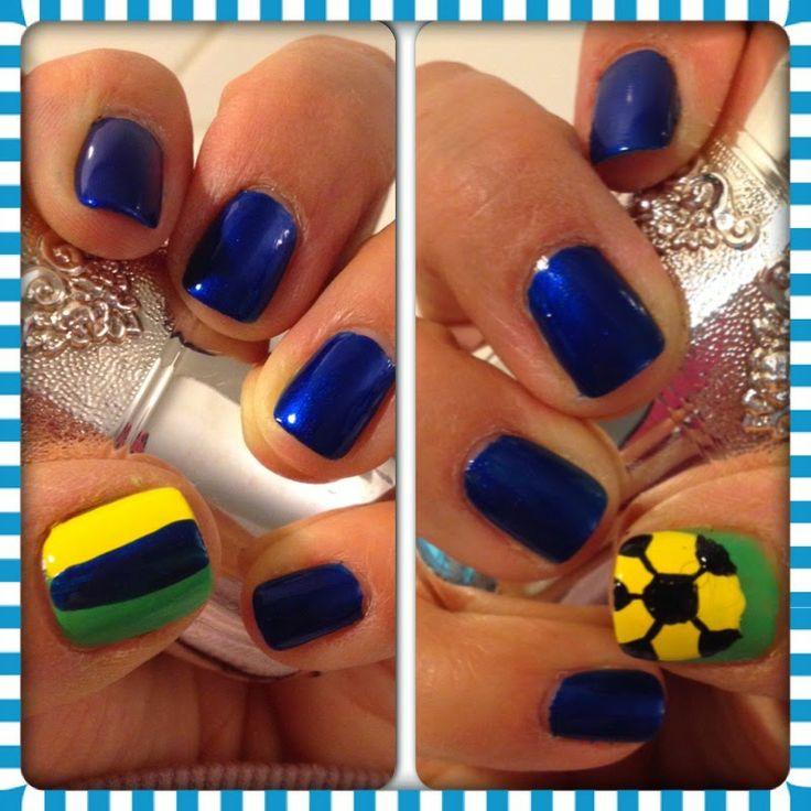 I'm Feeling Tipsy: #World Cup #Brazil #Nails #NOTD