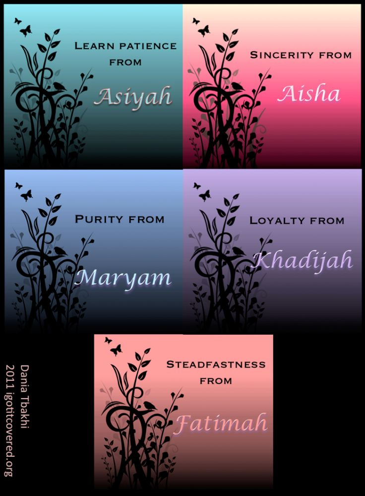 The Ladies in Islam :)