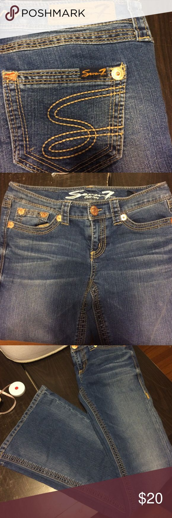 7 Jeans Lots of stretch, 14.5 in flat waist, 31in inseam. Like new! 7 For All Mankind Jeans Flare & Wide Leg