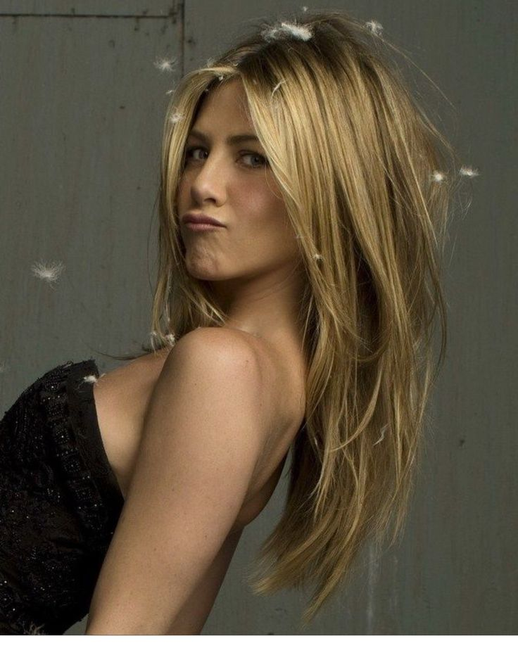 Jennifer Aniston long layered hair. Love this