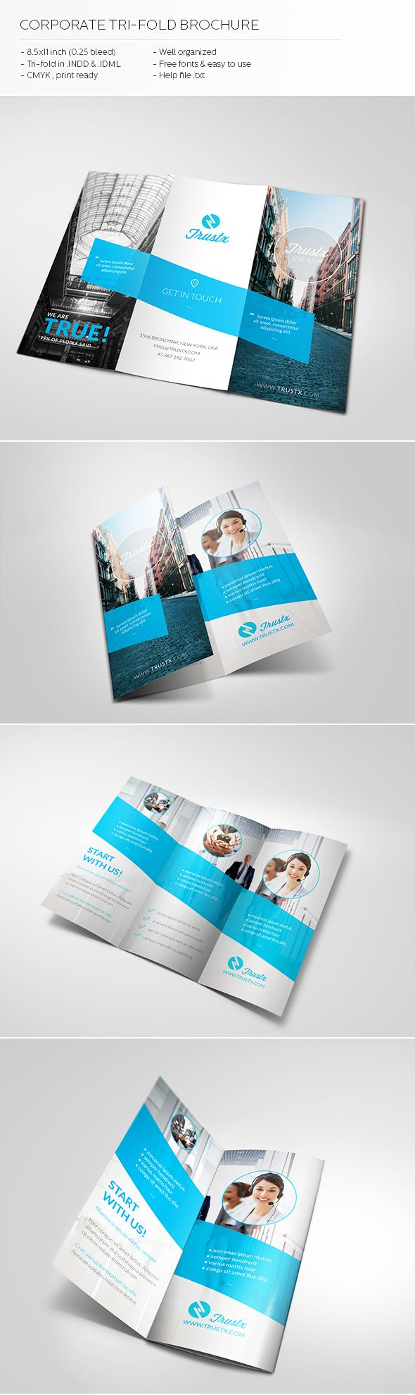 Trustx - Corporate Tri-fold Brochure by Realstar , via Behance