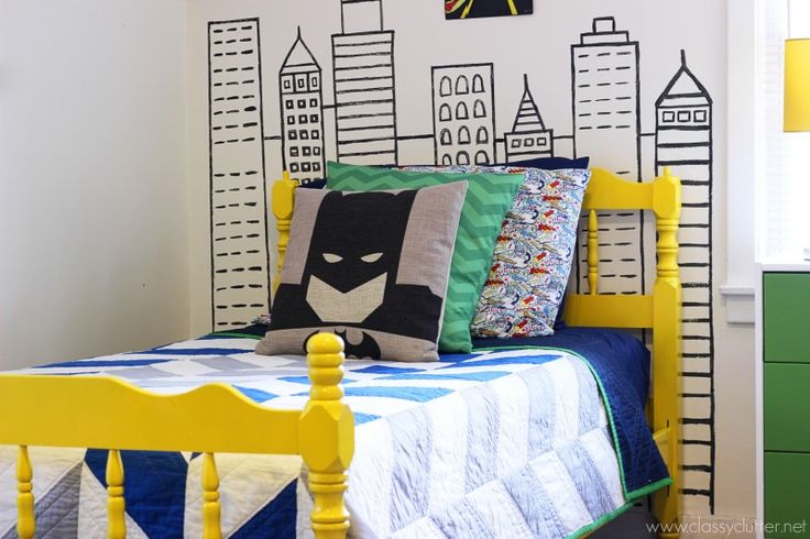 Modern Superhero-Themed Boys Bedroom