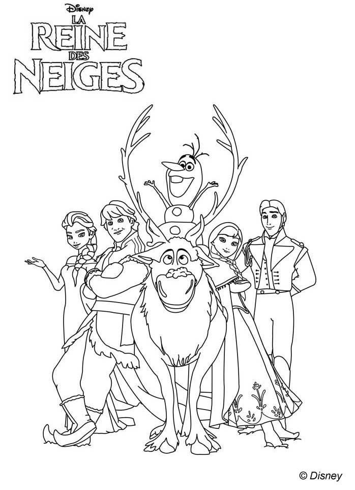 Coloriage Affiche La Reine Des Neiges Disney S Frozen
