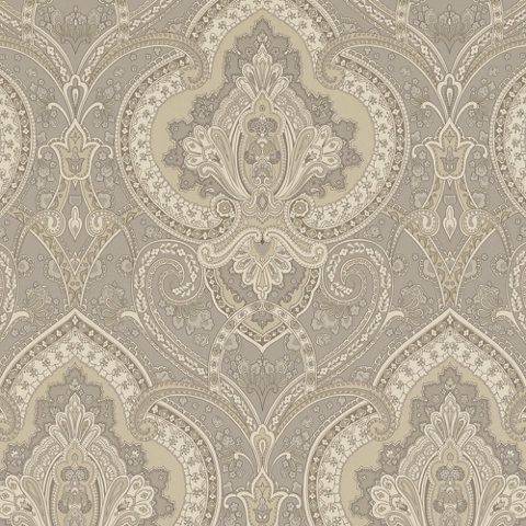 Castlehead Paisley - Pewter - Archival English Papers II - Wallcovering - Products - Ralph Lauren Home - RalphLaurenHome.com