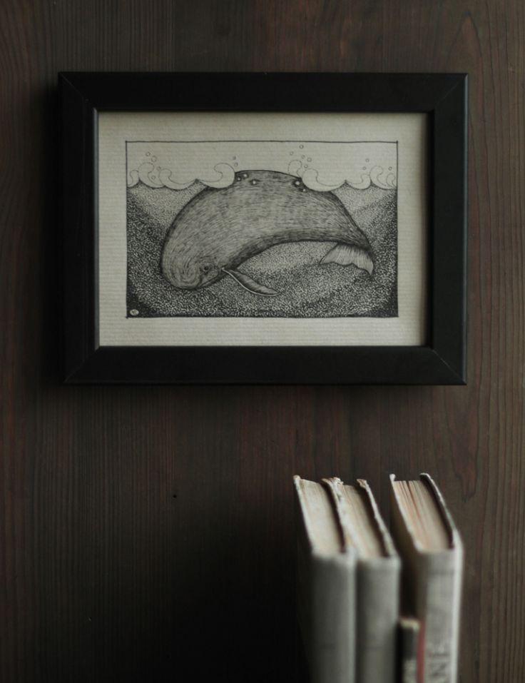 Wieloryb / Karolina-G / Dekoracja Wnętrz / Rysunki i Grafiki