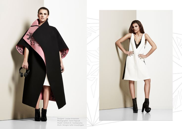 "Final collection ""Complex Simplicity""  Designer Louise Kristensen Photographer Søren Rajczyk Model Stefanie Vasilopoulou"