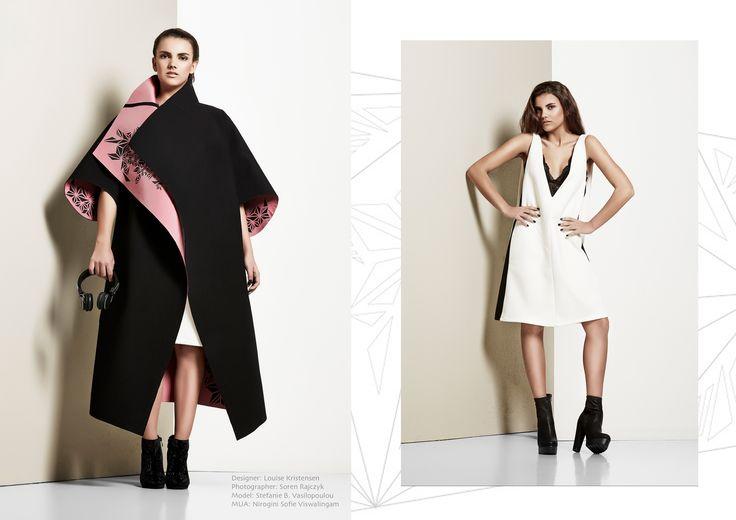 "Final collection ""Complex Simplicity""  Designer Louise Kristensen Photographer Søren Rajczyk Model Stefanie Vasilopoulou"