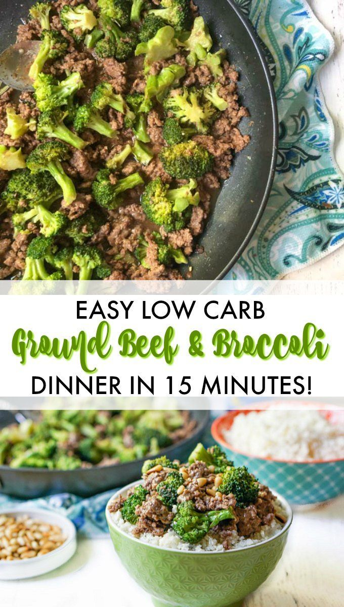 Easy Low Carb Ground Beef And Broccoli Recipe In 15 Minutes Recipe Ground Beef Recipes Healthy Healthy Ground Beef Healthy Beef Recipes