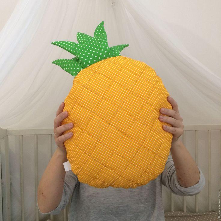 Купить Подушка ананас - белый, облако, подушка-облако, подушка, декоративная подушка, подушка-игрушка