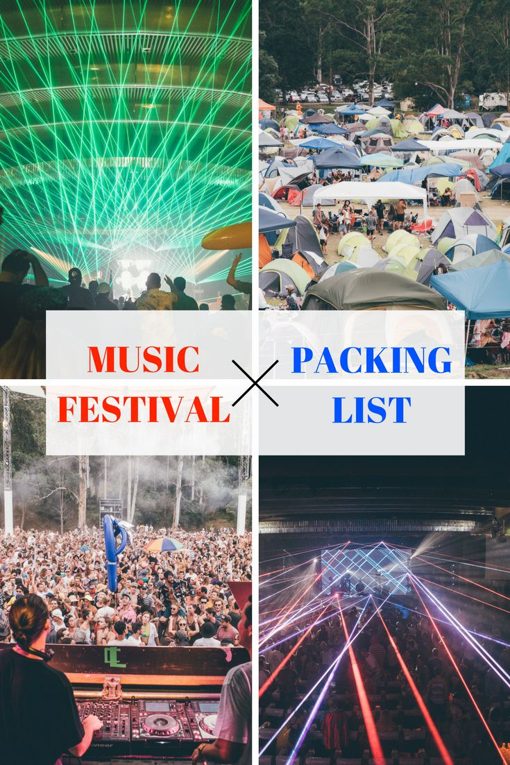 The Ultimate Music Festival Camping List
