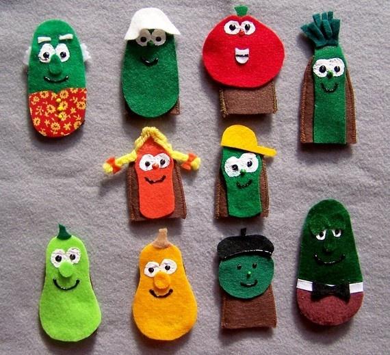 veggie tales puppets