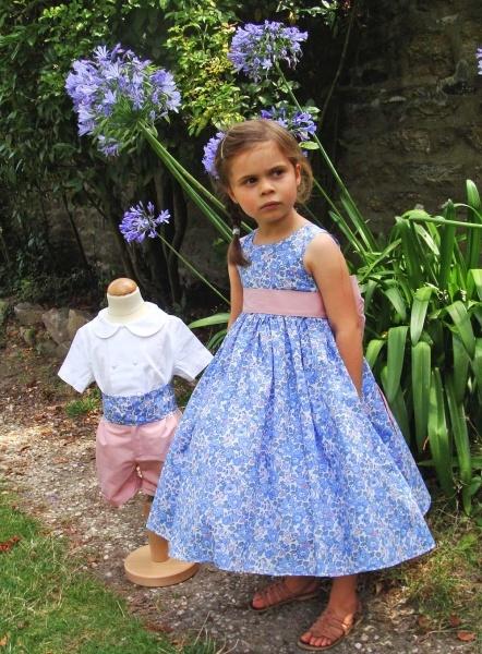 Vêtement de cérémonie pour enfant - Confection de cortège de mariage pour enfant - Made in France - Tenue enfant d'honneur d'été - Robe de cortège Marguerite