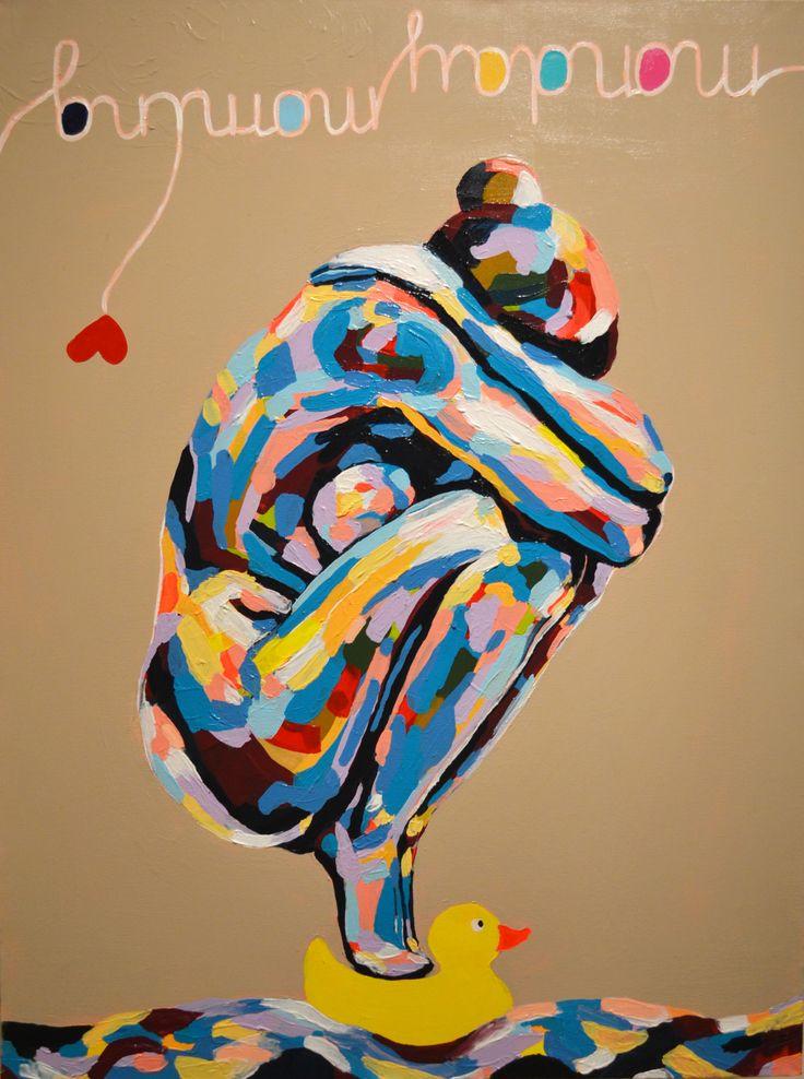 monday morning / 80x60 cm/ acrylic on canvas