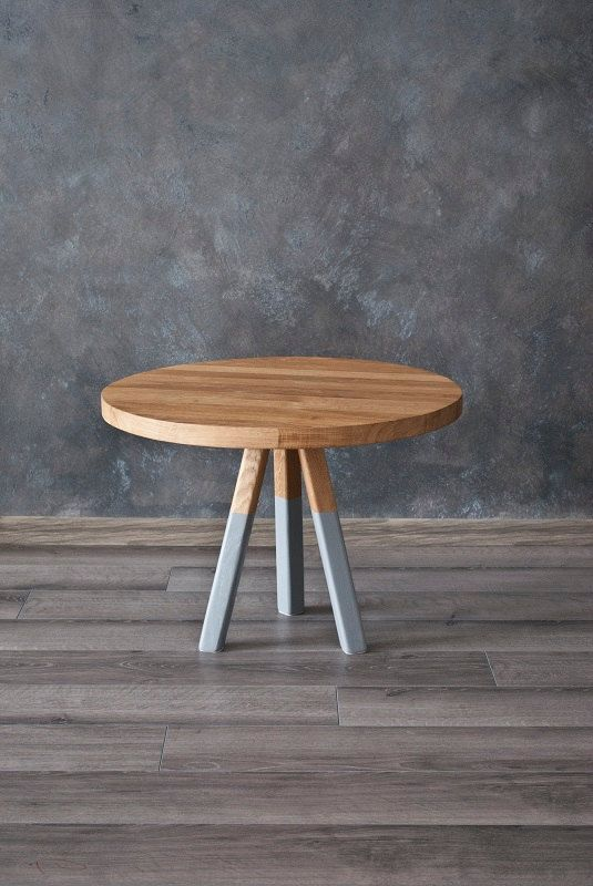 """Table, coffee table, unique, round, Oak Furniture series """"Grey Oak"""" on Etsy, £132.37"""
