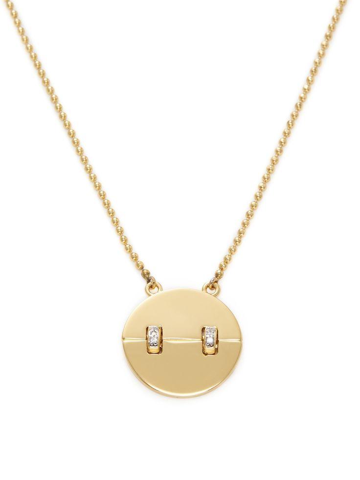 Rachel Zoe Kate CZ Pendant Necklace