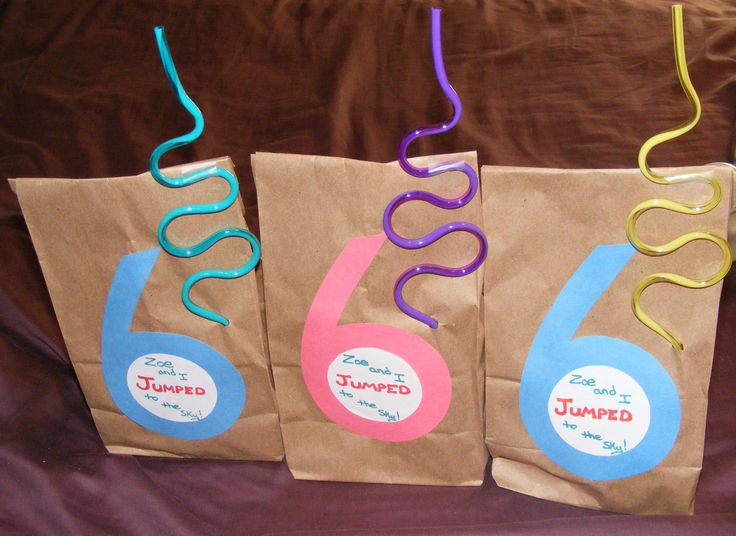 Trampoline Party - favor bags
