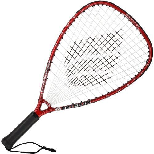 Ektelon Power Ring Renegade Racquetball Racquet Strung by Ektelon. Save 18 Off!. $37.00. Ektelon Power Ring Renegade Ti Racquetball Racquet SS 3 5/8  Weight: 195 g (unstrung) Racquet Length: 22 in Factory Grip: Ektelon Synthetic Factory String: Ektelon Synthetic 16g Balance Point: Even Frame Shape: Modified Tear Strung Surface: 105 sq in Power Level: 1200 *Power Level is set by Ektelon