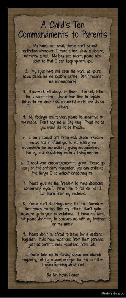 Essays about ten commandments