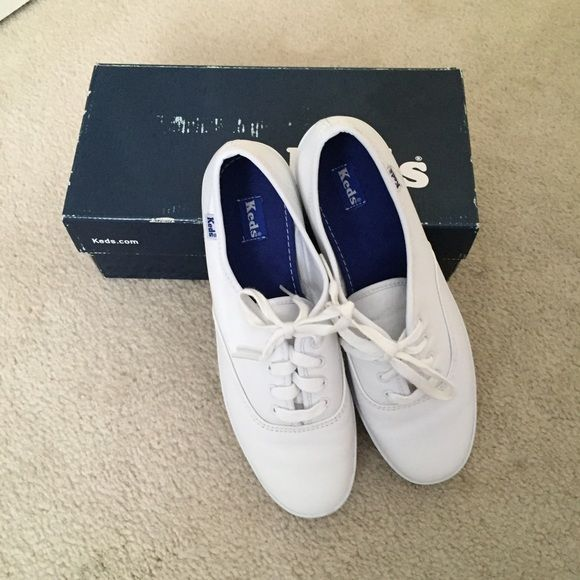 White Leather Keds New white leather Keds. Never worn still in box keds Shoes Sneakers