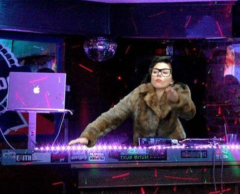 Scarlett Johansson as a DJ at the CLUB (Photoshop)  ---- funny pictures hilarious jokes meme humor walmart fails