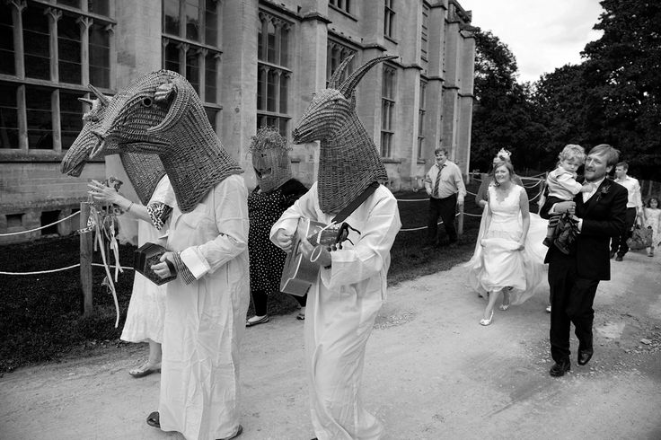 Wedding Procession at Woodchester Mansion, Gloucestershire