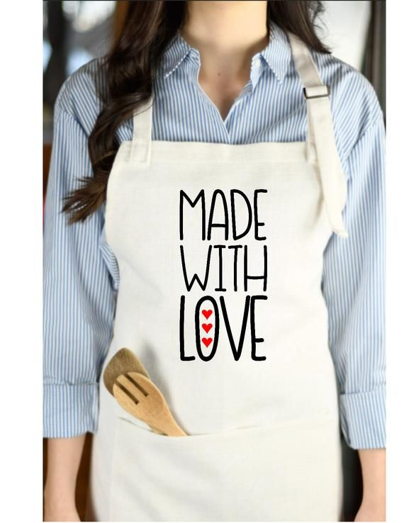 Personalized linen aprons for women Gift for grandma Customized apron
