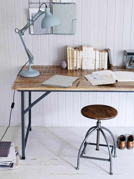 Industrial Style Folding Table- Handsome good looks aside, this rustic mango wood and iron table with foldaway legs also boasts brilliant versatility. Eat off it in the kitchen, work on it in the office or fold and take it outside for alfresco dining.  £600.00  http://www.coxandcox.co.uk